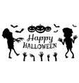 happy halloween poster black vector image vector image