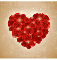 heart of rose for Valentines day vector image vector image