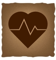 Heartbeat sign Vintage effect vector image vector image