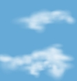 Landscape atmosphere fluffy white clouds blue sky vector image vector image