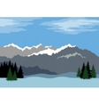 Landscape Mountains Low Poly vector image