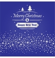 Merry Christmas and Happy New Year with white vector image vector image