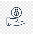 money bag concept linear icon isolated