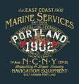 naval shipyard nautical company marine service vector image vector image