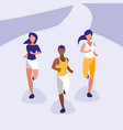 people athlete running avatar character vector image