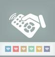 remote control label icon vector image vector image