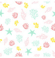 seamless pattern with coral vector image vector image