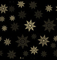 seamless pattern with falling snow vector image
