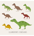 Set of Early carnivorous dinosaurs eps10 vector image vector image