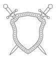 shield and swords icon vector image
