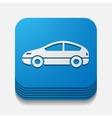 square button car vector image