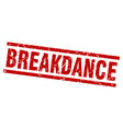 square grunge red breakdance stamp