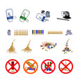 stack of bullets and the forbidden sign vector image