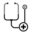 stethoscope icon simple style vector image