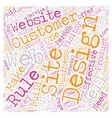 The 8 Must Do rules for effective website design vector image vector image