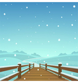The wooden bridge vector image vector image