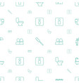 toilet icons pattern seamless white background vector image vector image