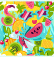 tropical summer pattern bright fruits and berries vector image vector image