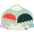 umbrella city vector image