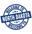 welcome to north dakota blue stamp vector image vector image