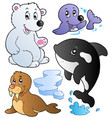 wintertime animals collection 1 vector image