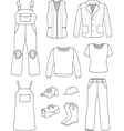 Worker plumber man woman fashion set vector image