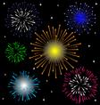 Colorful Firework set vector image