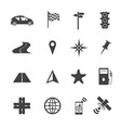 navigation icons set on texture background vector image