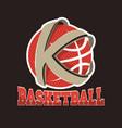 basketball team emblem vector image