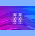 purple-blue futuristic digital wave vector image
