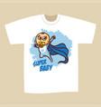 t-shirt print design superhero baby boy vector image