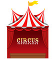 a cute circus on white background vector image vector image