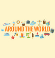 around the world horizontal banner vector image