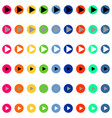 arrows in round differnt color vector image vector image