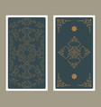 back tarot card decorated with ornamental vector image vector image