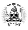 barber shop logo and symbol hand draw vintage vector image vector image