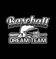 baseball badge logo emblem template dream team vector image vector image