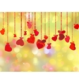 beautiful valentine day card vector image