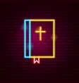 bible neon sign vector image
