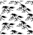Black horses silhouettes seamless pattern vector image vector image