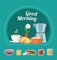 breakfast flat concept vector image vector image