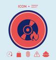 burn cd or dvd icon vector image