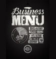 business lunch restaurant menu typographic design vector image