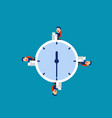 business team working at time concept vector image vector image