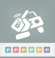 car remote control key vector image