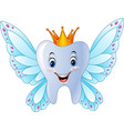 cartoon smiling tooth fairy vector image