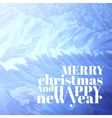 Christmas background pattern on glass vector image