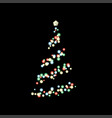 christmas tree lighting in the dark vector image vector image
