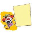 Clown Holding Invitation Announcement vector image vector image