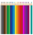 colour pencils set vector image